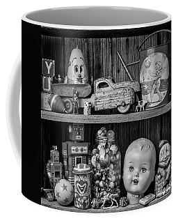 Childhood Toys On Old Shelf Coffee Mug