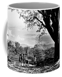 Children Of Central Highland Are Playing With A Dog Coffee Mug