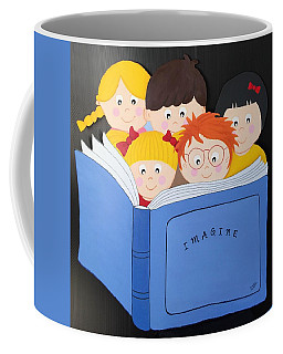 Children Reading Book Coffee Mug