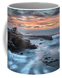 Childrens Pool Fall Sunset Coffee Mug