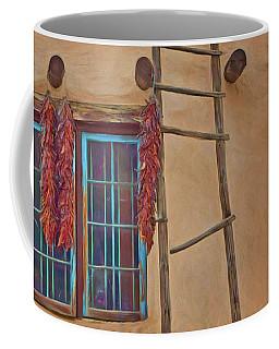 Chile Ristras - Window - Ladder Coffee Mug