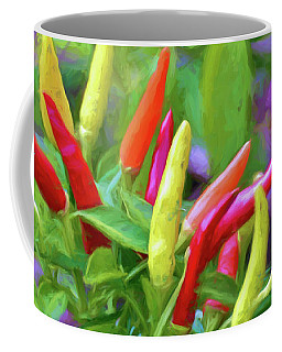 Coffee Mug featuring the photograph Chili Pepper Art by Kerri Farley