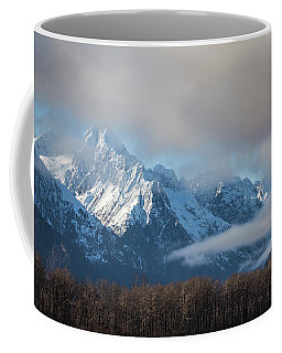 Chilkat Mountains With Clearing Fog Coffee Mug