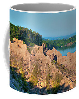 Chimney Bluffs 1750 Coffee Mug