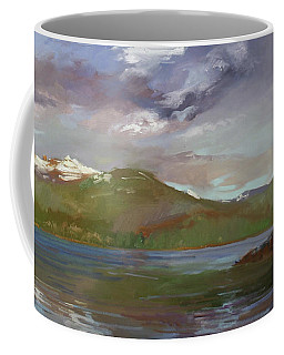 Chimney Rock  At Priest Lake  Plein Air Coffee Mug