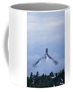 Coffee Mug featuring the photograph Chimney Rock Rising by Jason Coward