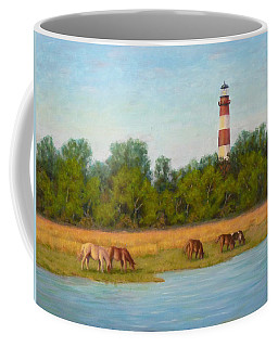 Coffee Mug featuring the painting Chincoteague 7-21-16 by Joe Bergholm