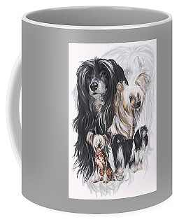 Chinese Crested And Powderpuff W/ghost Coffee Mug