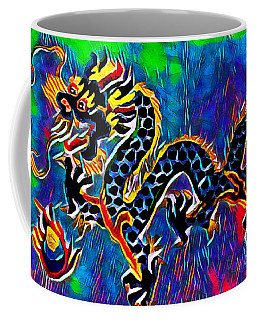 Coffee Mug featuring the mixed media Chinese Dragon by Lita Kelley
