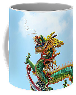 Chinese Dragon On Temple Rooftop Coffee Mug