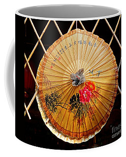 Coffee Mug featuring the photograph Chinese Hand-painted Oil-paper Umbrella by Yali Shi
