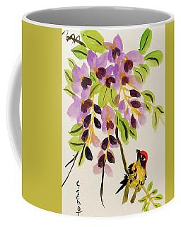 Chinese Wisteria With Warbler Bird Coffee Mug
