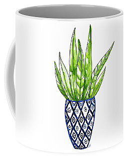 Chinoiserie Cactus No2 Coffee Mug