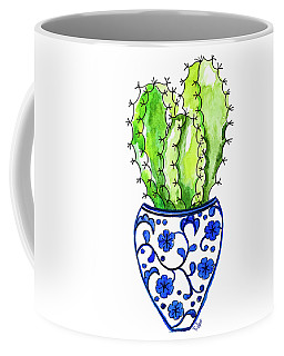 Chinoiserie Cactus No3 Coffee Mug