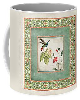 Chinoiserie Vintage Hummingbirds N Flowers 2 Coffee Mug by Audrey Jeanne Roberts