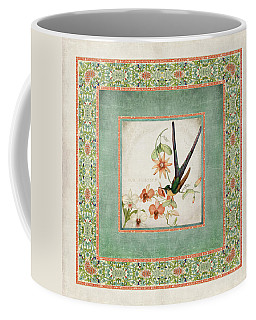 Chinoiserie Vintage Hummingbirds N Flowers 3 Coffee Mug