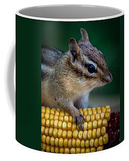 Chipmunk Goes Wild For Corn Coffee Mug