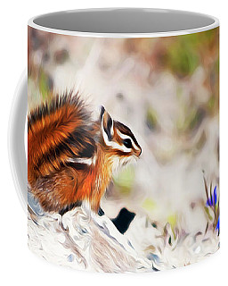 Coffee Mug featuring the digital art Chipper by Timothy Hack