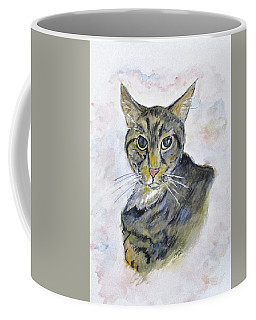 Coffee Mug featuring the painting Chloe The Cat by Clyde J Kell