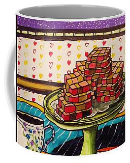 Chocolate And Cherry Checkerboard Cookies Coffee Mug by John Williams