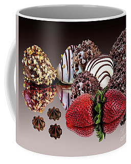 Chocolate And Strawberries Coffee Mug by Shirley Mangini