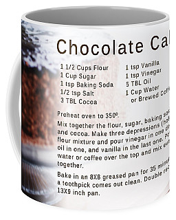 Chocolate Cake Recipe Coffee Mug