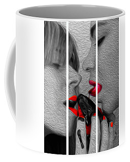 Chocolate Kiss-tryptych Coffee Mug