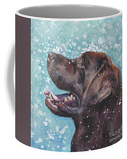 Coffee Mug featuring the painting Chocolate Labrador Retriever by Lee Ann Shepard
