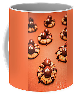 Chocolate Peanut Butter Spider Cookies Coffee Mug