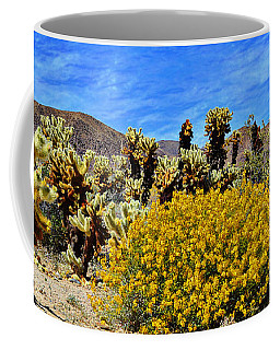 Cholla Garden Of Joshua Tree National Park Coffee Mug by Glenn McCarthy Art and Photography