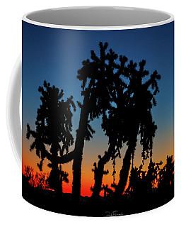 Coffee Mug featuring the photograph Cholla Silhouettes by Rick Furmanek