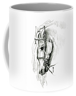 Chomping At Bit - Sketch1 Coffee Mug by Shirley Heyn