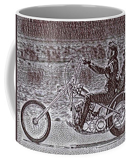 Chopper Art Drawing From Easy Rider Coffee Mug