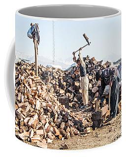 Chopping Wood Coffee Mug