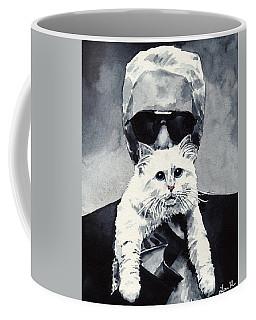 Choupette Cat And Karl Lagerfeld Coffee Mug