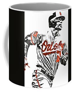Coffee Mug featuring the mixed media Chris Davis Baltimore Orioles Pixel Art by Joe Hamilton