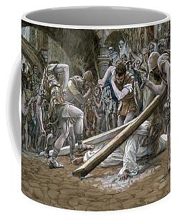 Christ Falls Beneath The Cross Coffee Mug