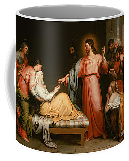 Christ Healing The Mother Of Simon Peter Coffee Mug