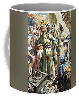 Christ Removing The Money Lenders From The Temple Coffee Mug
