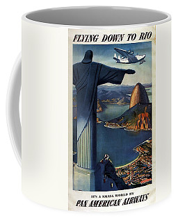 Christ The Redeemer, Rio, Brazil - Pan American Airways - Retro Travel Poster - Vintage Poster Coffee Mug