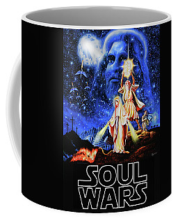 Christian Star Wars Parody - Soul Wars Coffee Mug by Dave Luebbert