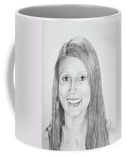 Coffee Mug featuring the drawing Christina by Mayhem Mediums