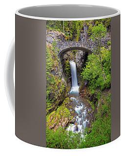 Christine Falls Under Bridge In Mt Rainier National Park Coffee Mug