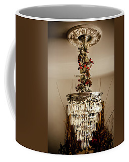 Coffee Mug featuring the photograph Christmas Antique Chandelier by KG Thienemann