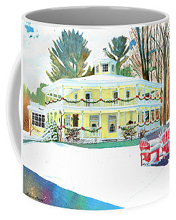 Christmas At The Hexagon House Coffee Mug by LeAnne Sowa