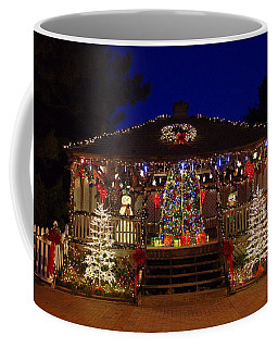 Christmas At The Lighthouse Gazebo Coffee Mug