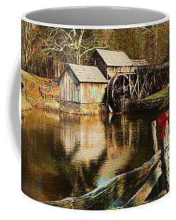 Coffee Mug featuring the photograph Christmas At The Mill by Darren Fisher