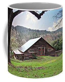 Christmas Barn Coffee Mug by Katie Wing Vigil