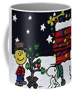 Coffee Mug featuring the painting Christmas Card Canvas Art by Jonathon Hansen