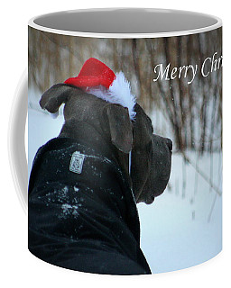 Christmas Card Pit Bull  Coffee Mug